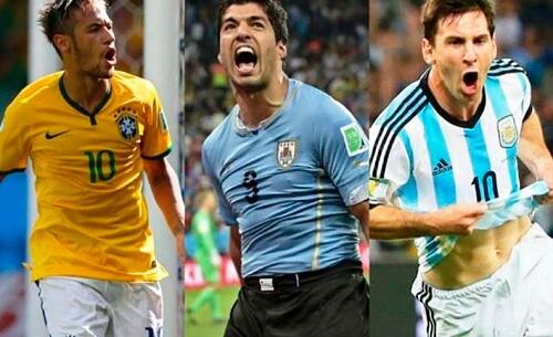 Fudbaleri Bazil, Urugvaj, Argentina